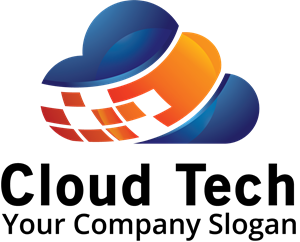 blue and orange cloud Logo Vector