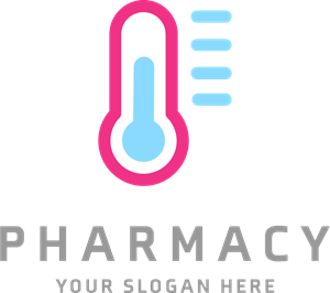 Blue and pink pharmacy Logo Vector