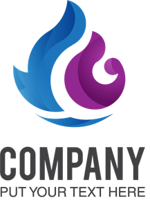 Blue and purple Logo Vector