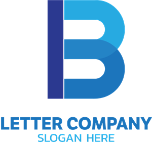 Blue B Letter Company Logo Vector