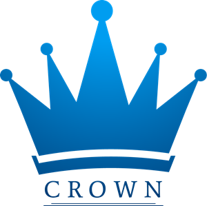 Blue crown Logo Vector