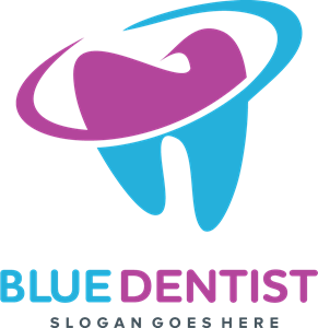 Blue Dentist Logo Vector