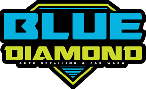 Blue Diamond Detailing Logo Vector