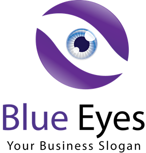 Blue eyes Logo Vector
