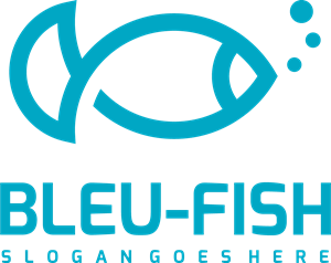 Blue Fish Logo Vector