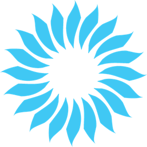 BLUE FLOWER DESIGN Logo Vector