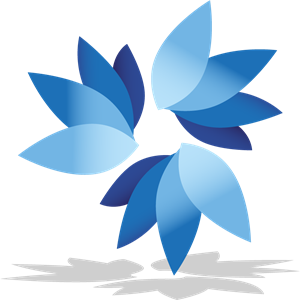 Blue Flower Logo Vector