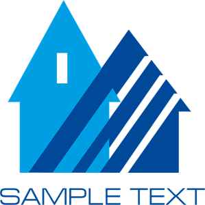 Blue House Logo Vector