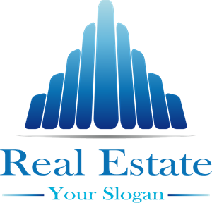 Blue Real Estate Logo Vector