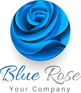Blue rose Logo Vector