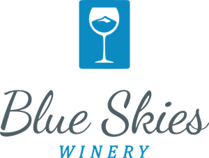 Blue Skies Winery Logo Vector