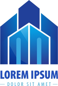 Blue style building Logo Vector