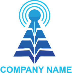 Blue Technology Logo Vector