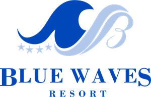 Blue Waves Resort Logo Vector