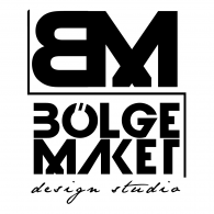 Bölge Maket Design Studio Logo Vector