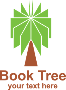 Book Tree Logo Vector