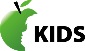 Boy silhouette in the apple Logo Vector
