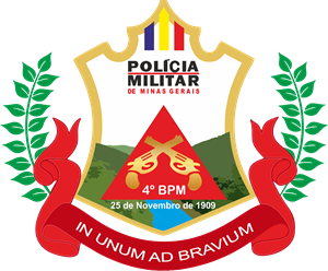 Brasão do 4º BPM da PMMG Logo Vector