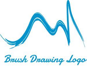 Brush Drawing Logo Vector
