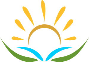 Brush Sun Art Logo Vector