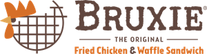 Bruxie, The Original Fried Chicken And Waffle Logo Vector
