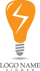 Bulb lamp Logo Vector