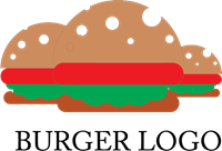 Burger Food Logo Vector
