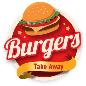 BURGER TAKE AWAY Logo Vector