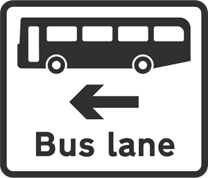 BUS LANE SIGN Logo Vector
