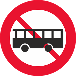 BUS TRAFFIC FORBIDDEN SIGN Logo Vector