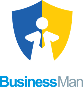Business man shield Logo Vector