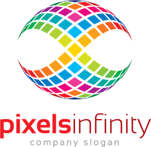 Business Pixels Infinity Logo Vector