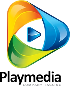 Business Play Media Logo Vector