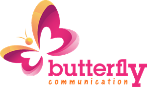 Butterfly Communication Logo Vector