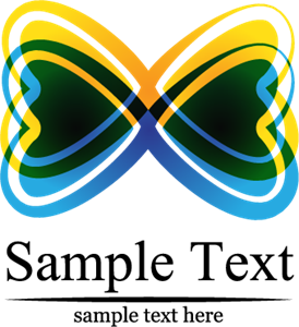 Butterfly Love Logo Vector
