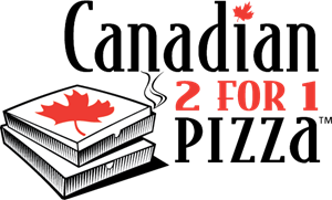 Canadian 2 for 1 Pizza Logo Vector