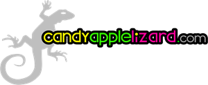 Candy Apple Lizard Logo Vector
