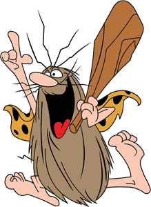 Captain Caveman Logo Vector