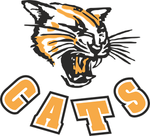 Cats Rugby Logo Vector