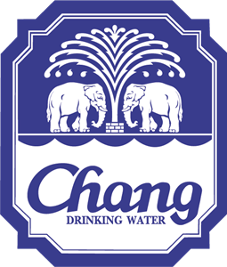 Chang Drinking Water Logo Vector