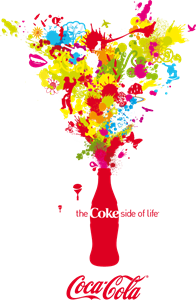 Coca-Cola Color Splash Logo Vector