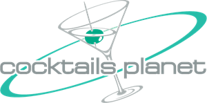 Cocktails Planet Logo Vector