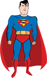 Comic Superman Logo Vector