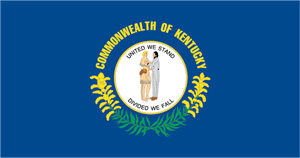 Commonwealth of Kentucky Flag Logo Vector