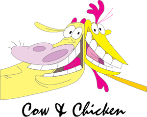 Cow & Chicken Logo Vector