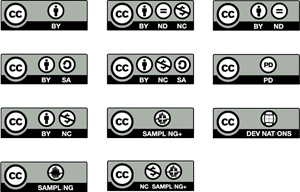 Creative Commons License Buttons Logo Vector