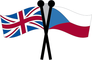 Czech Republic & Union Jack Flag Logo Vector