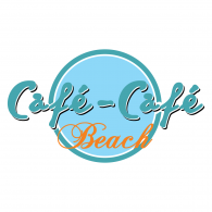 Cafe Beach Logo Vector
