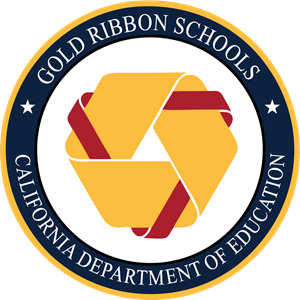 California Gold Ribbon Schools Award Logo Vector