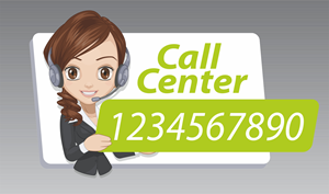 call center Logo Vector